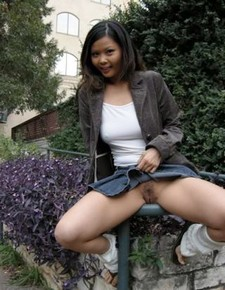 Bare tit asian flashing pantyless upskirts in city - Pichunter