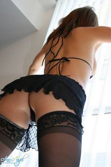 Randomly Stuff Sexy asian In Black Lingerie.