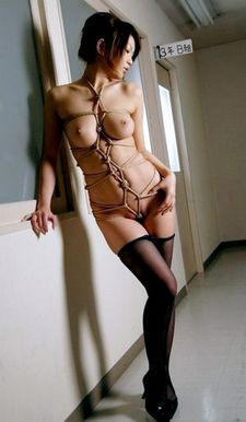 awesome bondage picture with sexy japanese.