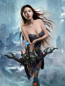 A photo update on Chinese babe Yu Zhi Qing: some football-themed shots, cosplay..